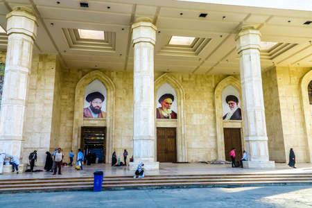 Tehran Harame Motahar Ziyarat Imam Ruhollah Khomeini Shrine Mausoleum Images of Ali Khamenei
