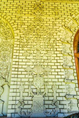 Tehran Golestan Palace Talar-e Salam Reception Hall Brick Facade Ornaments