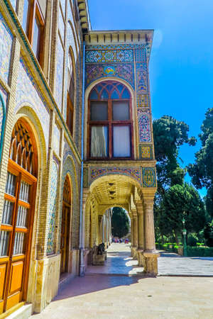 Tehran Golestan Palace Talar-e Salam Reception Hall Side View Point