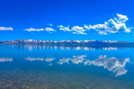 Song Kul Lake View Point with Snow Capped Moldo Too Mountains Landscape