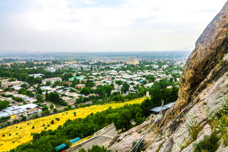 Osh Sulayman Mountain Too Rock Throne Cityscape View Point
