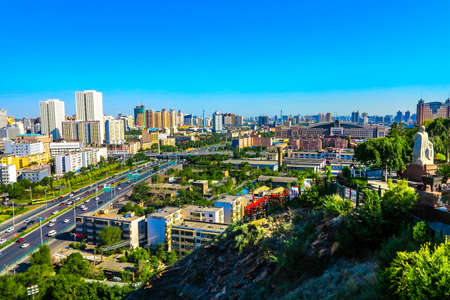 Urumqi Hongshan Public Park Breathtaking Picturesque Cityscape