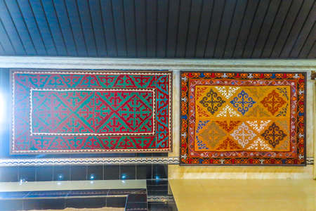 Cholpon Ata Rukh Ordo Cultural Center Traditional Kyrgyz Felt Carpet Ornament 新聞圖片
