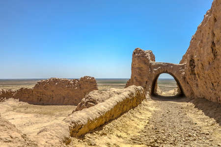 Karakalpakstan Ayaz Kala Fortress Ruins Landscape Breathtaking Picturesque Viewpoint