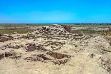 Karakalpakstan Toprak Kala Fortress Ruins Landscape Breathtaking Picturesque Viewpoint