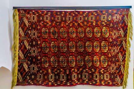 Khiva Old Town Islam Khoja Madrasa Complex Interior Turkmenistan Style Carpet 写真素材