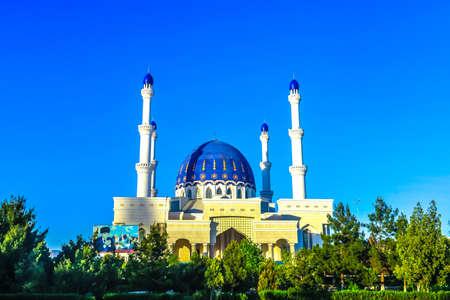 Mary Turkmenistan Gurbanguly Hajji Mosque with Blue Dome