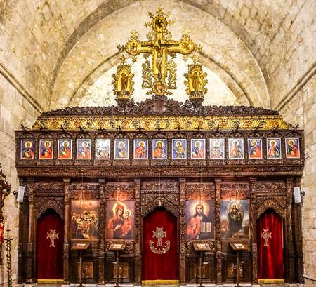 Our Lady of Balamand Greek Orthodox Christian Patriarchal Monastery Church Iconostasis Editorial
