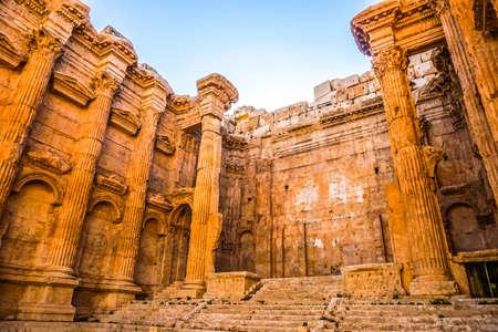 Baalbek Historical Landmark Temple of Bacchus Roman God of Wine Interior Open Air