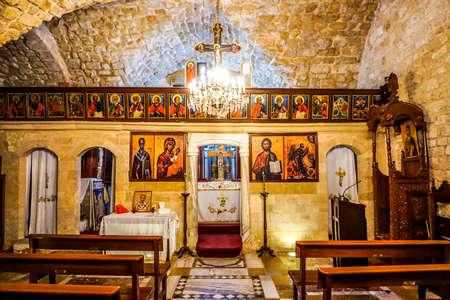 Sidon Saint Nicholas Greek Orthodox Church Iconostasis Editorial