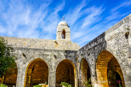Our Lady of Balamand Greek Orthodox Christian Patriarchal Monastery Church Bell Tower Stock Photo