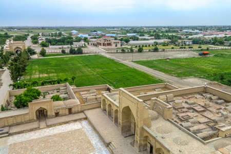 Bukhara Old City Chor Bakr Necropolis Complex High Angle Viewpoint