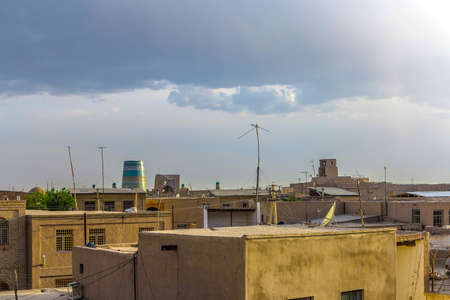 Khiva Old Town Common Traditional Architecture Residential Apartment Home House with Minaret Cityscape Viewpoint