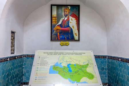 Samarkand Gur-e Amir Complex Mausoleum Amir Temur Picture and Map of his Timurid Empire