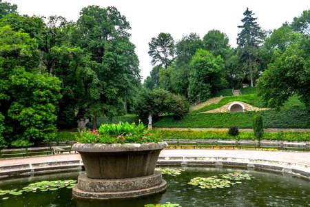 Uman Arboretum Sofiyivka National Park English Landscape Garden Lake with Fountain