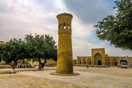 Bukhara Old City Chor Bakr Necropolis Small Minaret Viewpoint Stok Fotoğraf