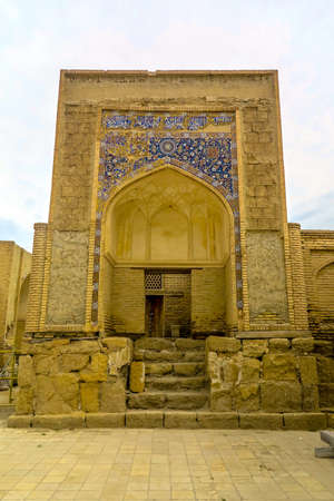 Bukhara Old City Chor Bakr Necropolis Iwan Mausoleum Entrance Gate