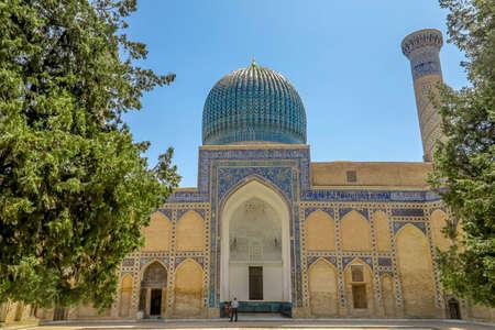 Samarkand Gur-e Amir Complex Mausoleum Iwan Muqarna Honeycomb Stalactite Vaulting