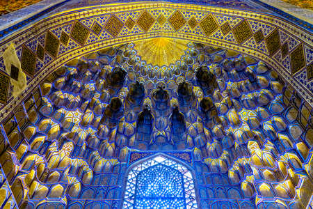 Samarkand Gur-e Amir Complex Mausoleum Muqarna Honeycomb Stalactite Vaulting