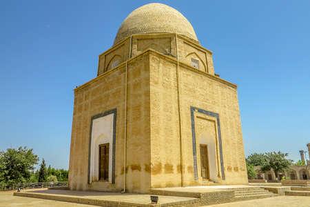 Samarkand Rukhobod Bricks Cupola Mausoleum Square Side Viewpoint