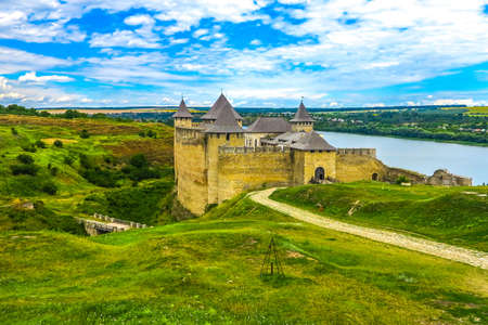 Khotyn Fortress Complex Full with Dnister River and Landscape View