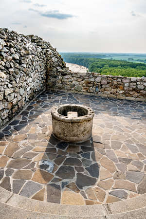 Devin Castle Fortified Walls Rocks with Water Well and Breathtaking Picturesque Danube River View at Background