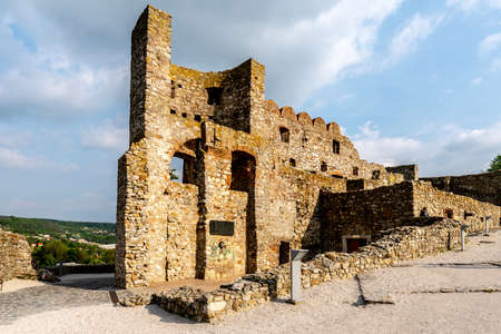 Devin Castle Main Ruined Fortified Walled Entrance Background View Point with Picturesque Blue Sky