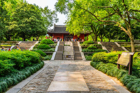 Nanjing Ming Xiaoling Mausoleum Zhongshan Scenic Area Tablet Hall with Chinese Tourists