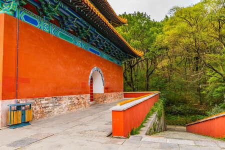 Nanjing Ming Xiaoling Lou Mausoleum Main Building Soul Tower Leading Lines Balcony View