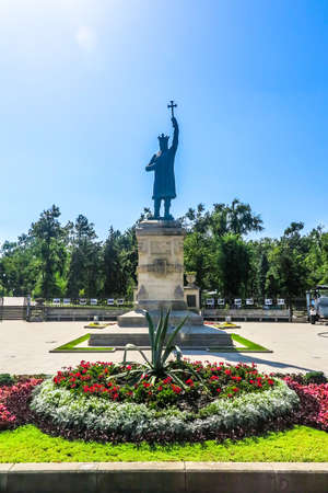 Chisinau Great National Assembly Square Saint Stephen the Great Statue The Great Frontal View