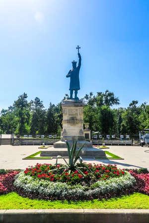 Chisinau Piazza della Grande Assemblea Nazionale Statua di Santo Stefano il Grande La grande veduta frontale