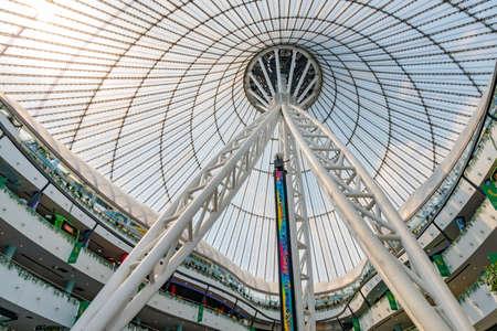 Nur-Sultan Astana Royal Marquee Khan Shatyr Entertainment Center Interior View of the Ceiling Reklamní fotografie