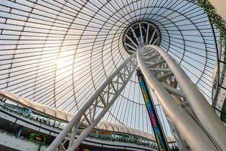 Nur-Sultan Astana Royal Marquee Khan Shatyr Entertainment Center Interior View of the Ceiling Redakční