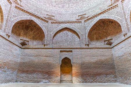 Shahrtuz Shahritus Khoja Mashad Mausoleum UNESCO World Heritage View of Cupola Ceiling on a Sunny Blue Sky Sunset Day