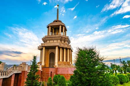 Kulob Castle Square at City Center Breathtaking Picturesque View on a Cloudy Rainy Blue Sky Day Redakční