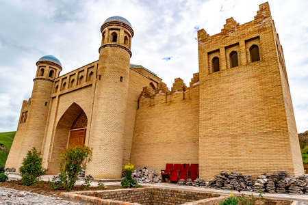 Baljuvon Caravanserai Mosque Breathtaking Picturesque View on a Cloudy Blue Sky Day Redakční