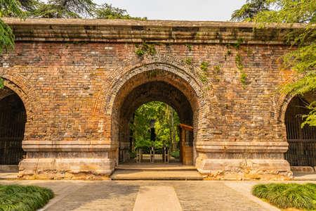Nanjing Ming Xiaoling Mausoleum Da Jin Men Great Golden Gate Main Entrance to Site with Ticket Booth