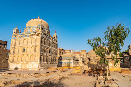Hyderabad Tombs of the Talpur Mirs Largest Tomb of Mir Karam Ali Khan Picturesque View at a Sunrise Blue Sky Day