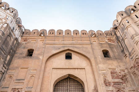 Lahore Walled City Picturesque Breathtaking View of Masti Gate on a Sunny Blue Sky Day