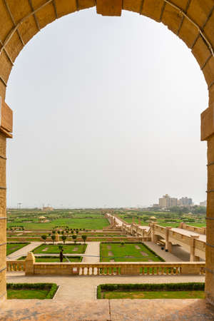 Karachi Bagh Ibn e Qasim Park with Picturesque Breathtaking View of Whole Complex on a Cloudy Day