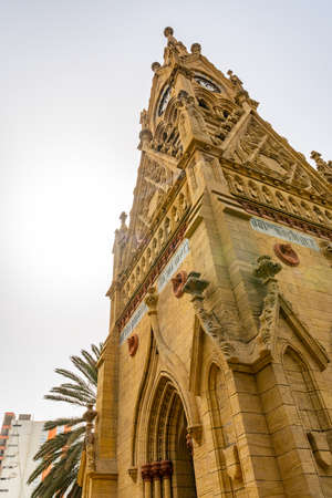 Karachi Merewether Clock Tower Picturesque Breathtaking View at Jinnah Road on a Cloudy Sky Day