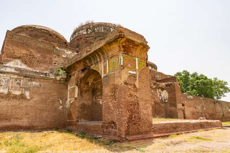 Lahore Shahdara Bagh Jahangir's Tomb Picturesque View of Mausoleum Ruins on a Sunny Blue Sky Day