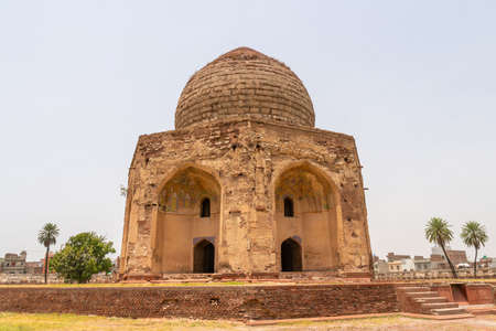 Lahore Shahdara Bagh Jahangirs Tomb Picturesque View of Asif Khan Mausoleum on a Sunny Blue Sky Day