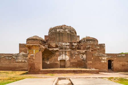 Lahore Shahdara Bagh Jahangirs Tomb Picturesque View of Mausoleum Ruins on a Sunny Blue Sky Day