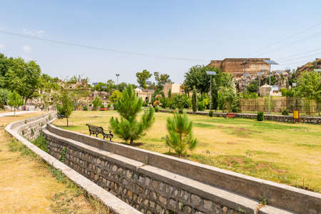 Chakwal Qila Katas Raj Hindu Temples Dedicated to Shiva Picturesque View of a Canal on a Sunny Blue Sky Day