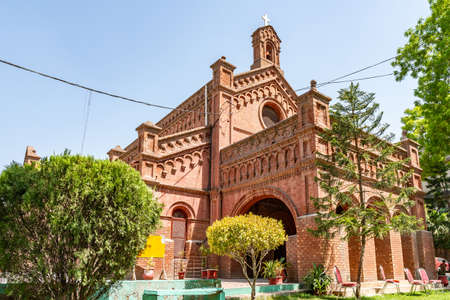 Lahore Holy Trinity Church of Pakistan Diocese at Neela Gumbad Anarkali Bazaar Picturesque View on a Sunny Blue Sky Day