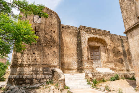 Chakwal Qila Katas Raj Hindu Temples Dedicated to Shiva Picturesque View of a Fort on a Sunny Blue Sky Day