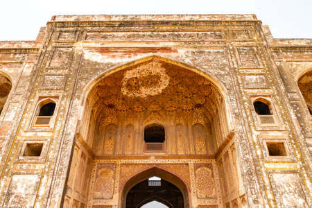 Lahore Shahdara Bagh Jahangirs Tomb Picturesque View of Bara Darwaza Gate on a Sunny Blue Sky Day Stock fotó