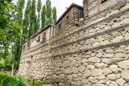 Shigar Fort Complex Picturesque Breathtaking View of the Building on a Cloudy Blue Sky Day