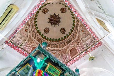 Multan Hazrat Shah Shams Sabzwari Shrine Picturesque View of the Ceiling on a Sunny Blue Sky Day